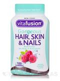 Gorgeous Hair, Skin & Nails Multivitamin, Natural Raspberry Flavor - 100 Gummies