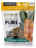 Grain Free Pure Chewy Treats for Dogs with Rabbit and Kale - 100+ Treats Per Bag (6 oz / 169 Grams)