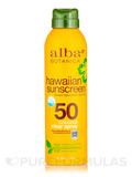 Hawaiian Sunscreen SPF50 Coconut Clear Spray - 6 oz (171 Grams)