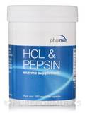 HCl & Pepsin 180 Vegetable Capsules
