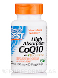 High Absorption CoQ10 with BioPerine 100 mg 60 Veggie Capsules