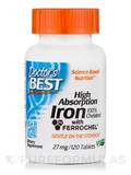 High Absorption Iron 100% Chelated 27 mg with Ferrochel - 120 Tablets