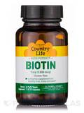 High Potency Biotin 5 mg 120 Vegetarian Capsules