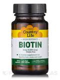 High Potency Biotin 5 mg 60 Vegetarian Capsules