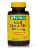 Cod Liver Oil 1000 mg 60 Softgels