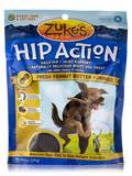 Hip Action with Glucosamine & Chondroitin Dog Treats Peanut Butter - 6 oz (170 Grams)