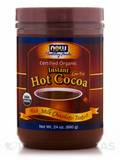 NOW® Real Food - Instant Hot Cocoa, Certified Organic, Milk Chocolate Taste - 24 oz (680 Grams)