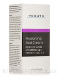 Hyaluronic Acid Cream with Ferulic Acid, Vitamin C & E, Tripeptide-31 - 1 fl. oz (30 ml)