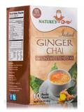 Instant Ginger Chai Powder, Unsweetened - 10 Packets (5.64 oz / 160 Grams)