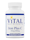 Iron Plus C (20 mg / 200 mg) - 100 Vegetarian Capsules