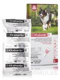 K9 Advantix® for Dogs and Puppies (7 weeks and older, 21-55 lbs) - Six Tubes (0.084 fl. oz / 2.5 ml