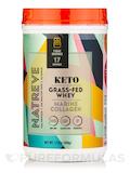 Keto Grass-Fed Whey Marine Collagen, Fudge Brownie Flavor - 17.6 oz (500 Grams)