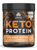 Keto Protein, Peanut Butter Flavor - 18.9 oz (544 Grams)