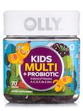 Kids Multi + Probiotic Gummies, Yum Berry Punch Flavor - 70 Gummies