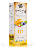 mykind Organics Vegan D3 Spray (Vanilla Flavor) - 2 fl. oz (58 ml)