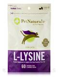 L-Lysine Chews for Cats, Chicken Liver Flavor - 60 Chews (3.74 oz / 90 Grams)