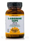 L-Arginine 500 mg Caps with B-6 100 Vegetarian Capsules
