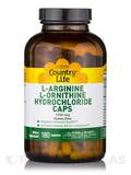 L-Arginine/L-Ornithine 1000 mg with B-6 180 Capsules