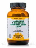 L-Arginine/L-Ornithine 1000 mg with B-6 60 Capsules