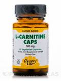 L-Carnitine 500 with B-6 30 Vegetarian Capsules