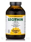 Lecithin 1200 mg (19 Grains) - 300 Softgels