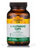 L-Glutamine Caps 500 with B-6 - 100 Vegan Capsules