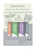Lip Balm Quadruplets (Coconut Smoothie | Lavender Meringue | Mint Herbal | Orange Ginger) - 4 Count
