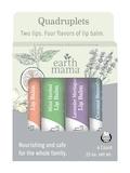 Lip Balm Quadruplets (Coconut Smoothie | Lavender Meringue | Mint Herbal | Orange Ginger) - 4 Count