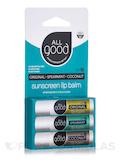 Lip Balms - Original, Spearmint, Coconut SPF 15 - 3 Pack