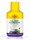 Liquid Calcium Magnesium - Wild Blueberry Flavor - 16 fl. oz (1 Pt / 472 ml)