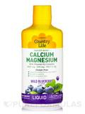 Liquid Calcium Magnesium - Wild Blueberry Flavor - 32 fl. oz (1 Qt / 944 ml)