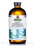 Liquid Norwegian Cod Liver Oil, Natural Lemon-Lime Flavor - 16 fl. oz (480 ml)
