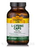 L-Lysine 500 mg with B-6 - 100 Vegetarian Capsules