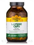 L-Lysine 500 mg with B-6 250 Vegetarian Capsules