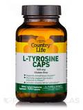 L-Tyrosine 500 mg with B-6 - 100 Vegetarian Capsules