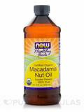 Organic Macadamia Nut Oil 16 oz (473 ml)