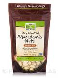 NOW Real Food® - Macadamia Nuts with sea Salt, Dry Roasted - 9 oz (255 Grams)