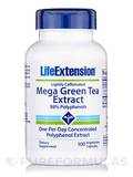 Mega Green Tea Extract (Lightly Caffeinated) - 100 Vegetarian Capsules