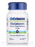 Melatonin (6 Hour Timed Release) 3 mg 60 Vegetarian Tablets
