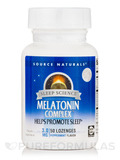 Melatonin Complex™ 3 mg Sublingual, Peppermint Flavor - 50 Tablets
