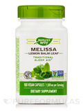 Melissa Leaves (Lemon Balm) 490 mg 100 Capsules