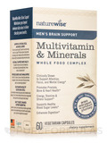 Men's Brain Support Multivitamin & Minerals Whole Food Complex - 60 Vegetarian Capsules
