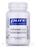 Mineral 650 w/o Copper & Iron 90 Capsules