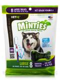 Minties® Dental Treats for Dogs (40 lbs Plus) - 8 Large Treats (12 oz / 340 Grams)
