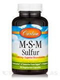 MSM Sulfur 1000 mg - 90 Vegetarian Capsules