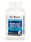 MultiMedica without Iron 120 Vegetable Capsules