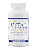 Multi-Nutrients 4 Citrate / Malate Formula (with Copper and Iron) - 180 Capsules