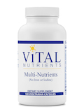 Multi-Nutrients w/o Iron or Iodine - 180 Vegetable Capsules