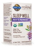 mykind Organics Sleep Well Rest & Refresh - 30 Vegan Tablets