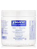 NAC + Glycine Powder, Natural Peach Ginger Flavor - 5.6 oz (159 Grams)
